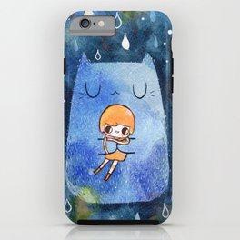 cat hug iPhone Case