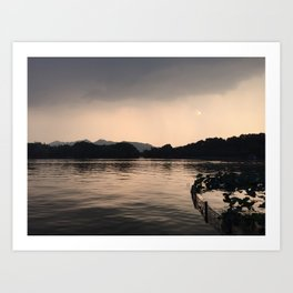 PERSPECTIVE // Sunset over West Lake, Hangzhou Art Print