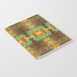 Bohemian mint and brown pattern Notebook