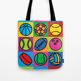 Sport Ball Pop Art Tote Bag