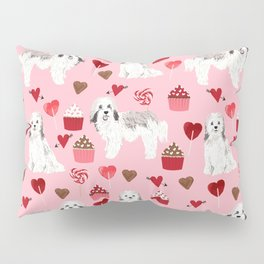 Havanese valentines day cupcakes love hearts dog breed gifts for dog lover pure breed must haves Pillow Sham