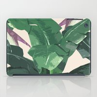 banana leaf iPad Cases featuring Banana Leaf Pattern by Tamsin Lucie