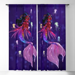 Midnight Mermaid Blackout Curtain