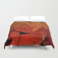 zombies Duvet Covers featuring ZOMBIES by Marcus Wild