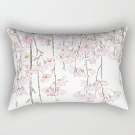pink cherry blossom spring 2018 Rectangular Pillow