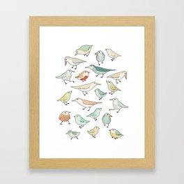 birds outside my window Framed Art Print