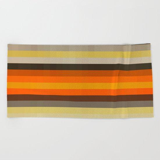 Texture Line 43 Beach Towel