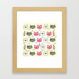 Cats Expression Framed Art Print