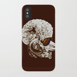 Funky sheep iPhone Case