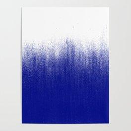 Ink Blue Ombré Poster
