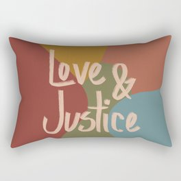 Love and Justice in Fall Colors Rectangular Pillow