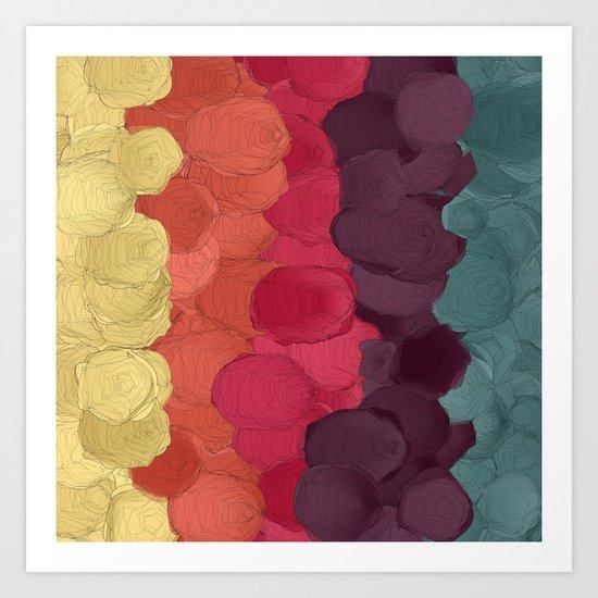 Paper Flowers In Bloom #3 Art Print