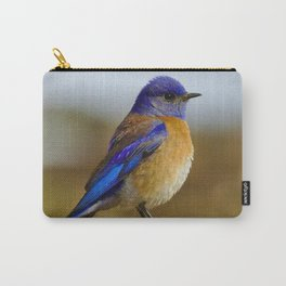 Blue Bird Perched on a Rock - Nature Photography Carry-All Pouch