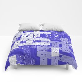 Abstract in blue Comforters