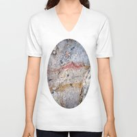 mineral V-neck T-shirts featuring Mineral Vein by LilyMichael Photography