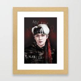 BTS SUGA MIC DROP Framed Art Print