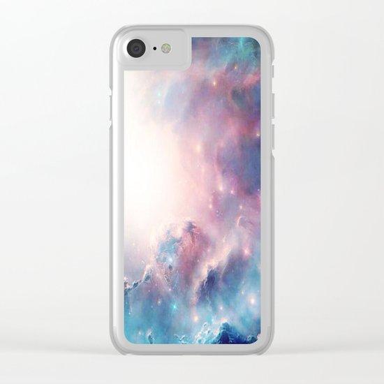 Galactic storm Clear iPhone Case
