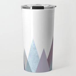 PLUM TURQUOISE MOUNTAINS GEOMETRIC Travel Mug
