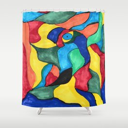 Stained Glass Eye Shower Curtain