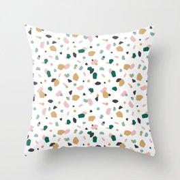 Tropical Terrazzo Throw Pillow