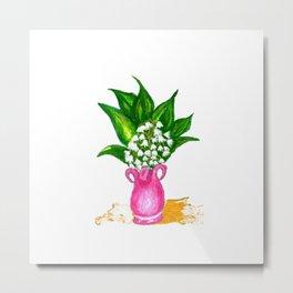 May Lily Painting Metal Print