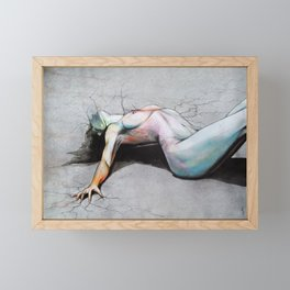 Let it die / Become yourself Framed Mini Art Print