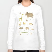african Long Sleeve T-shirts featuring African Animals by Sophie Corrigan