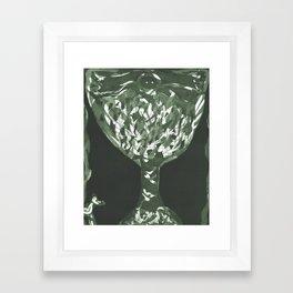 Emerald Totem Tree Etching/Printmaking Framed Art Print