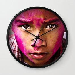 Holi Festival of Colour Wall Clock