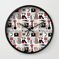 lou reed Wall Clocks featuring A tribute to Lou Reed by Lili's Damn Fine Shop