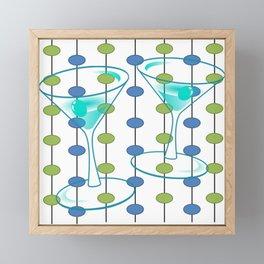Mid-Century Modern Atomic Art Cocktails 1.0 Framed Mini Art Print