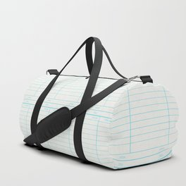 Library Book Date Due Card Duffle Bag