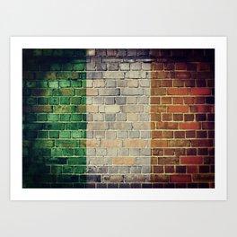 Vintage Ireland flag Art Print