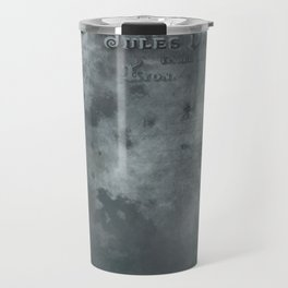 Dark grey letter vintage batic look Travel Mug