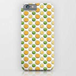 Citrus Medley. Lemon, Lime and Orange Slices on White iPhone Case