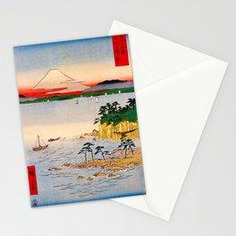 Utagawa Hiroshige- 36 Views of Mt.Fuji - Soushu Miura at sea Stationery Cards