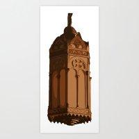 lantern Art Prints featuring LANTERN by Max McMax