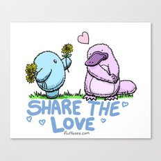 Share the Love Canvas Print