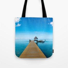 Tahiti Boat Dock Tote Bag