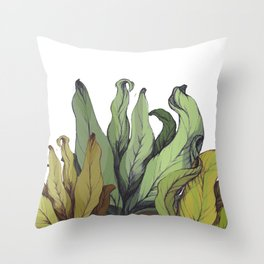 drawing leaves Throw Pillow