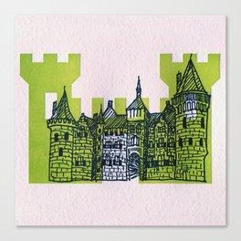Letterpress Castle 1 Canvas Print