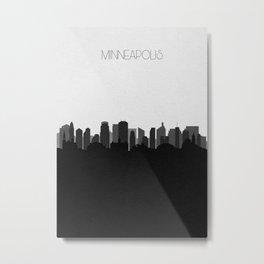 City Skylines: Minneapolis (Alternative) Metal Print
