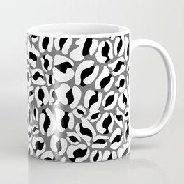 Leopard Print | black and white monochrome | Cheetah texture pattern Coffee Mug