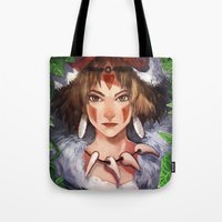 princess mononoke Tote Bags featuring Mononoke by ShinoX