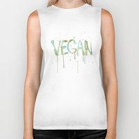vegan Biker Tanks featuring VEGAN by Elisaveta Stoilova