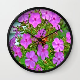 Hovering Phlox Wall Clock