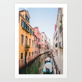 Colorful Pink Yellow Blue Venice Canals | Europe Italy City Travel Photography Art Print