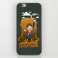 adventure is out there iPhone & iPod Skins featuring Adventure by BlancaJP