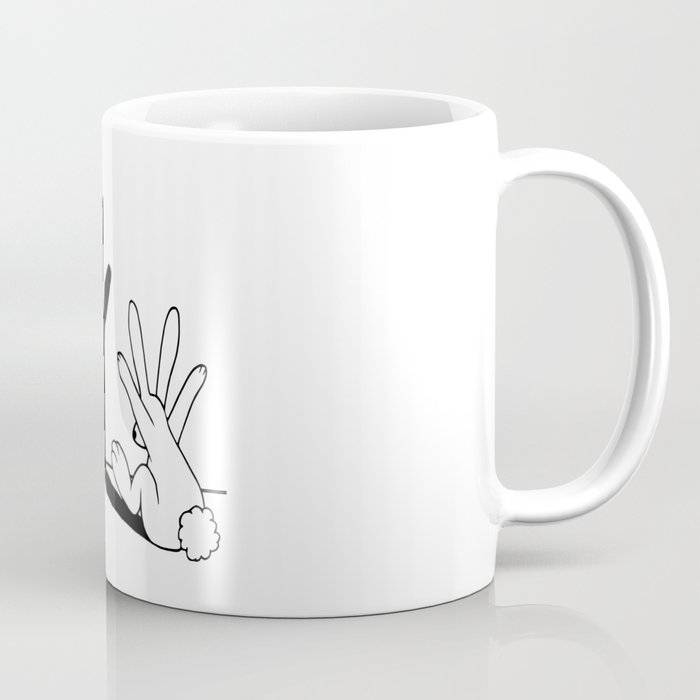 Rabbit Hand Shadow Kaffeebecher