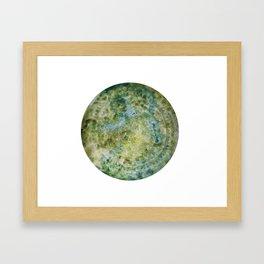 Green Mandala Watercolour Framed Art Print